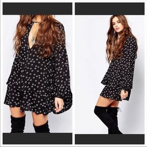 Free People floral swing tunic